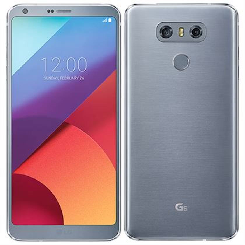 Pre-Owned Unlocked LG G6 32gb H873 Platinum -- 5 7